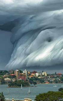 Tsunami cloud in Australia