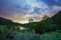 Tucked in a valley along the Rio Grande River - Orilla Verde New Mexico  OC