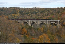 Tunkhannock Viaduct Nicholson PA - Completed in  it is still used today by the Canadian Pacific Railroad