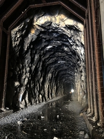 Tunnel  on the old Central Pacific Railroad line Truckee Ca