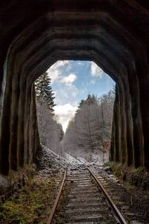 Tunnel portal on abandoned railroad line