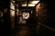 Tunnel under an abandoned paper mill outside Lockport NY