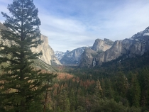 Tunnel View Yosemite  OC Mid-December