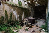 Turbine hall of an abandoned and decaying Italian hydro powerplant wwwobsidianurbexphotographycom