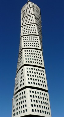 Turning Torso skyscraper in Malmo Sweden