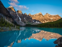 Turns out waking up early enough for sunrise at Moraine Lake in Banff National Park was totally worth it