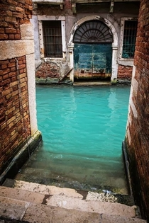 Turquoise Canal Venice Italy