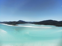 Turquoise waters of Hill Inlet in the Whitsunday Islands Queensland Australia