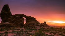Turret Arch in Arches National Park Moab Utah