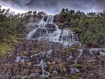 Tvindefossen Waterfall Norway