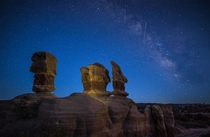 Twilight At The Devils Garden in Canyonlands Utah  Steve Rengers
