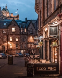 Twilight hour Edinburgh UK