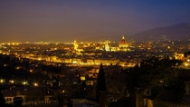 Twilight in Florence Italy