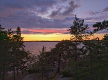 Twilight over The Baltic Sea in Porkkala Finland