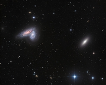 Twin Galaxies in Virgo space nasa