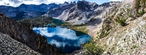 Twin Lakes as pictured from Snowyside Peak Idaho Sawtooths OC