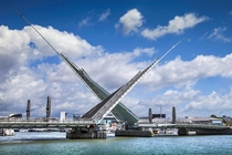 Twin Sails Bridge Poole UK Constantly being closed for repairs since opening