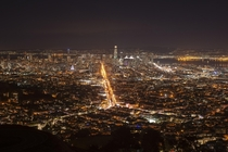 Twinkling San Francisco from Twin Peaks x