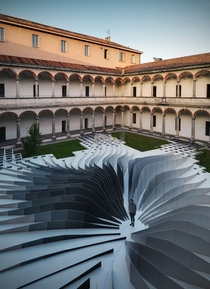 TWIRL installation in Milano Italy by Zaha Hadid