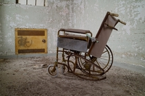 Twisted Broken Wheel Chair