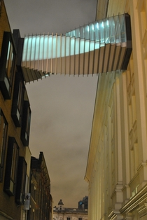 Twisted elevated walkway Covent Garden London