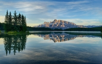 Two Jack Lake and Mount Rundle AB Canada  by Jeff Clow