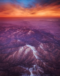 Two years ago I left Los Angeles on an early morning flight and was rewarded with this ridiculously photogenic sunrise