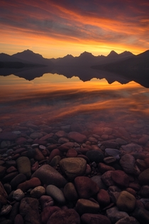 Two years ago I saw this sunrise the best Ive seen still to this day The park is closed now but Im desperately awaiting the day we can get back outside and enjoy our natural areas again Glacier National Park MT