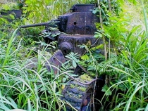 Type- Ha-Go tank hurriedly left behind in the retreat of the Japanese in the battle for Guadalcanal Solomon Islands