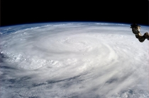 Typhoon Haiyan as seen from the International Space Station