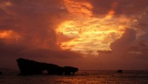 Typhoon Sunset on Okinawa Japan August