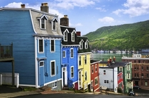 Typical maritime Canadian houses in St Johns Newfoundland