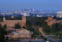 UCLA with Downtown Los Angeles in the background