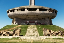 UFO shaped Monument House of the Bulgarian Communist Party otherwise simply known as Buzludzha Photographed in  Interior photos and info in the comments