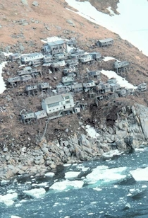 Ukivok Alaskas Abandoned Cliff-Hanging Village  Article in Comments
