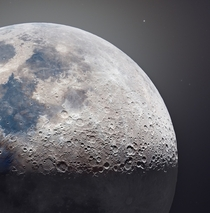 Ultra High-Definition -Megapixel Photo of the Moon Astrophotographer Andrew McCarthy used  photos to produce extremely detailed images of the Moon Galileo would have loved this image