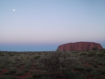Uluru and the moon Taken many years ago on a disposable camera Northern Territory Australia