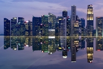 Unbelievable reflection on Marina Bay Sands