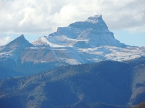 Uncompahgre Peak Colorado after first snow