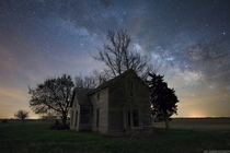 Under a Nebraska night sky