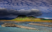 Under cover Markarfljt River Rangarvallasysla Iceland By Andrew Turner