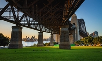 Under the bridge Sydney NSW