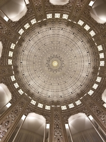 Under the dome of Bahai National Center in Evanston Illinois
