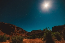 Under the moon and stars in Dominguez Escalante Wilderness Area