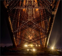 Under the Red Bridge Forth bridge Scotland