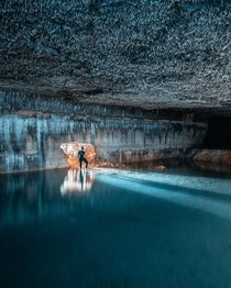 Underground lake in a quarry used to provide liquid hydrogen for V missiles during WW