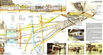 Underground map of Chtelet - Les Halles Paris central transit hub with  rail lines and more than  million commuters per year It also includes an underground shopping center with  shops a swimming pool a cinema with  screens a parkour room and a network of