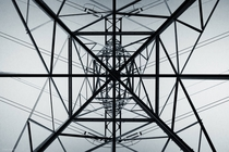 Underneath a high voltage transmission line