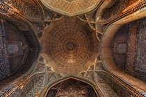 Underneath the Dome of Shahjehan Mosque Thatta Pakistan