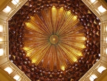 Underneath the Dome of the Bahria Grand Mosque Lahore Pakistan